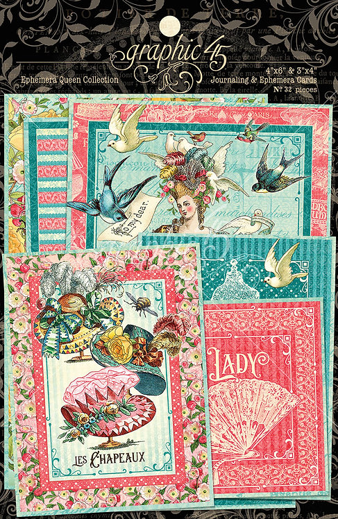 Ephemera Queen Journaling and Ephemera Cards, Graphic 45