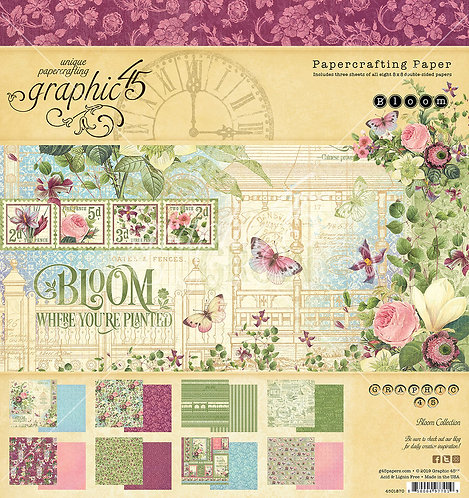 Bloom 8x8 Paper Pad, Graphic 45