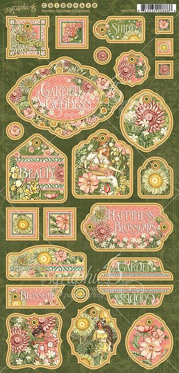 Garden Goddess Chipboard, Graphic 45