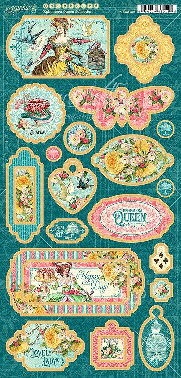 Ephemera Queen Chipboard Elements, Graphic 45