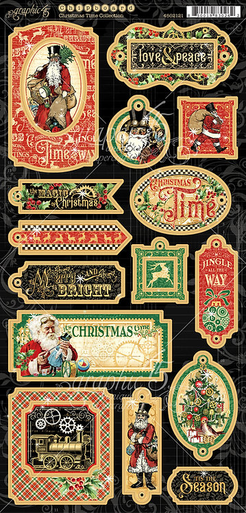 Christmas Time Chipboard Elements