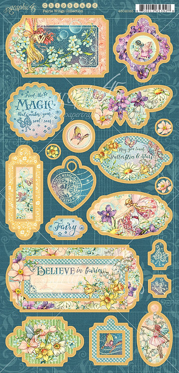 Fairie Wings Chipboard, Graphic 45