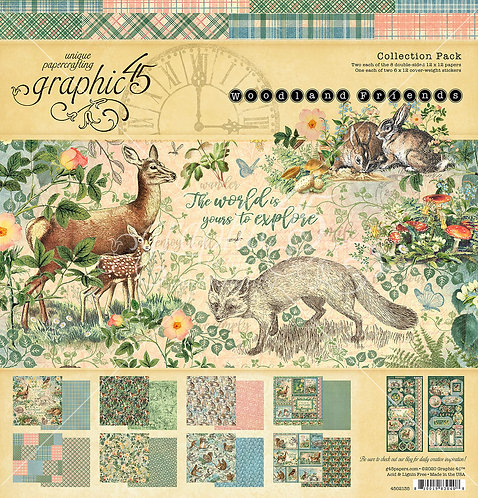 Woodland Friends Collection, 12 x 12, Graphic 45