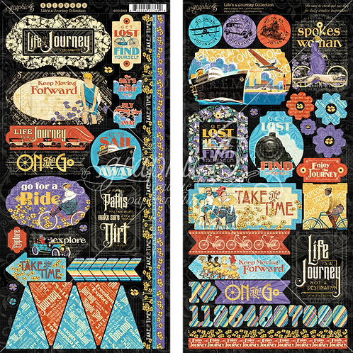 Life's a Journey Stickers, Graphic 45