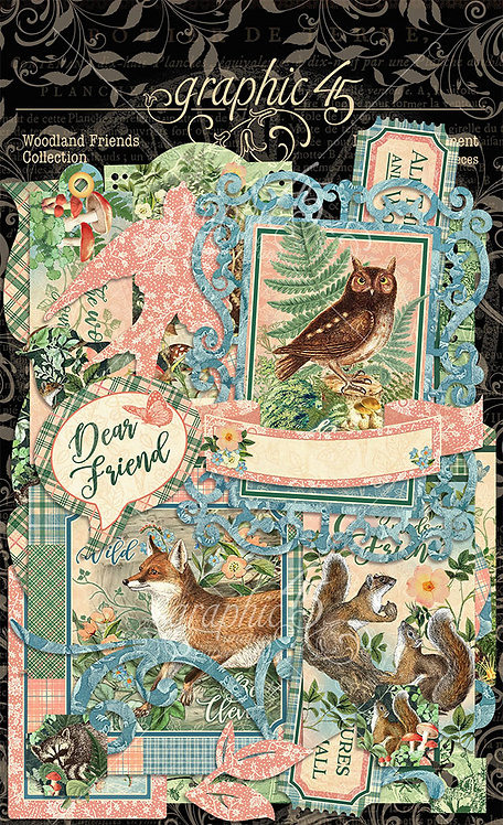 Woodland Friends Die Cuts, Graphic 45