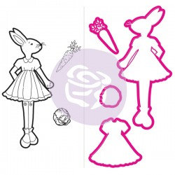 Bunny, Julie Nutting Doll Cling Stamp and Die