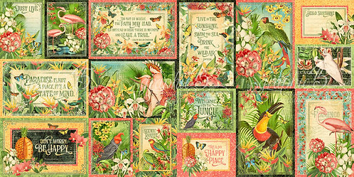 Lost in Paradise Ephemera and Journaling Cards, Graphic 45
