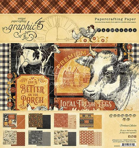Farmhouse Paper Pad, 8x8, Graphic 45