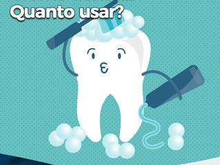 Creme dental... Quanto usar?!