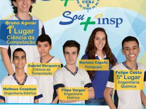 Estudantes INSP se destacam no vestibular UERJ