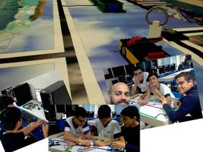 Montagem das missões para nosso torneio de Robótica com ajuda de alunos!