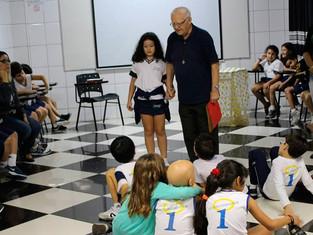 Roda de conversa com Padre João Bosco e 2º ano do Ensino Fundamental I
