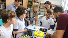 Equipe de Robótica apresentou projeto que será avaliado no Torneio Brasil de Robótica à equipe de co