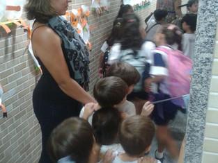 Projeto de Conscientização do Autismo com as turmas da Educação Infantil.