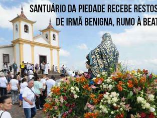 Santuário da Piedade recebe restos mortais de Irmã Benigna, rumo à beatificação.