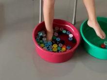 Pescando com os pés!