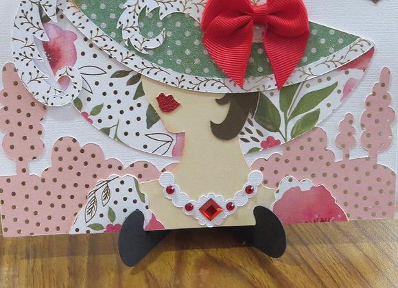 Hat Ladies Greeting Card