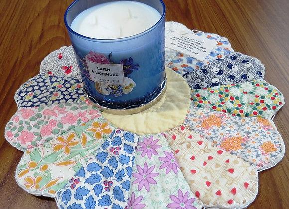 Vintage Quilt Candle Mat