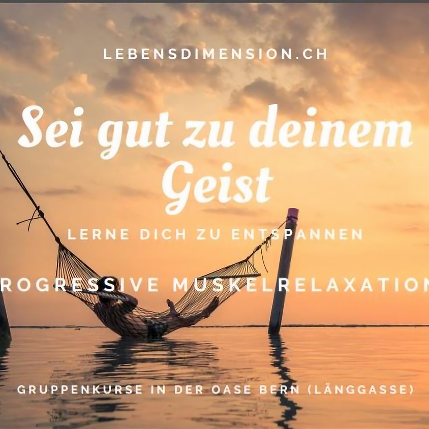 Neue Gruppentrainings in Progressiver Muskelrelaxation