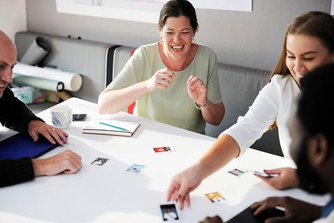 Teamwork https://www.pexels.com/photo/adult-business-choices-choosing-515169/