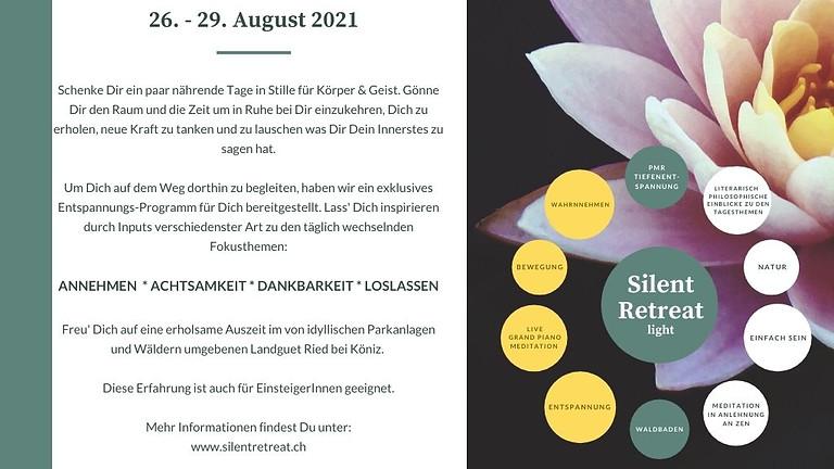 Stille Retreat light - 26. bis 29.08.2021