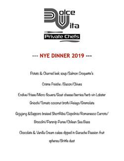 DV NYE Dinner 2019