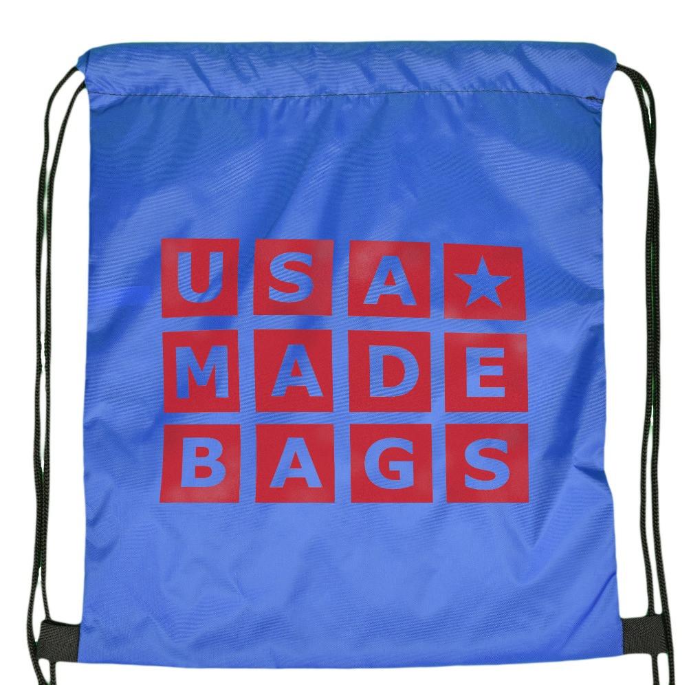Royal Blue Drawstring Backpack Flat View