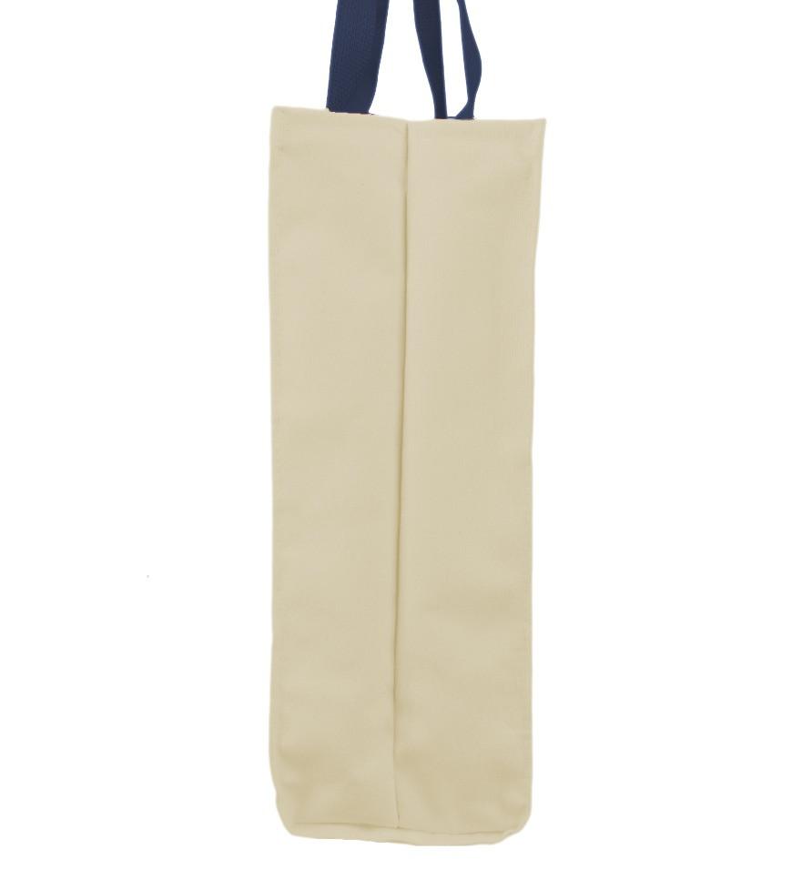 Market Bag Natural with Navy Handles Sid