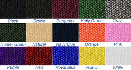 Handle Webbing Color Swatch USA MADE BAGS