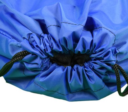Royal Blue Drawstring Backpack Top View.