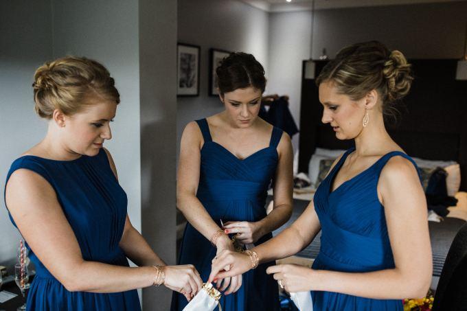 bridal party upstyles