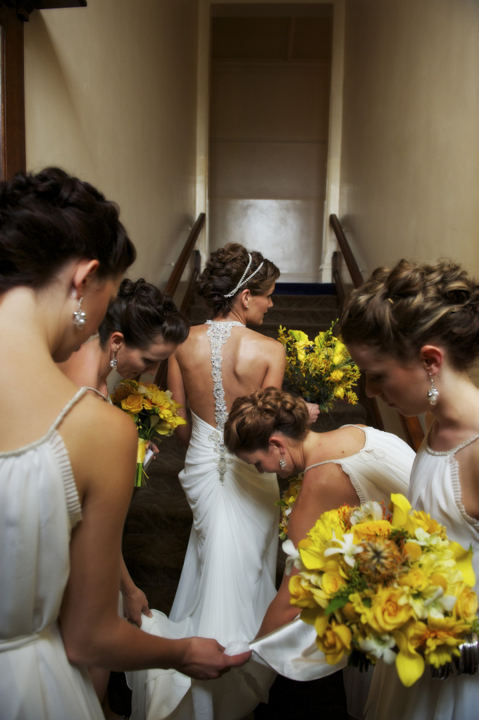Boho bridal party hair