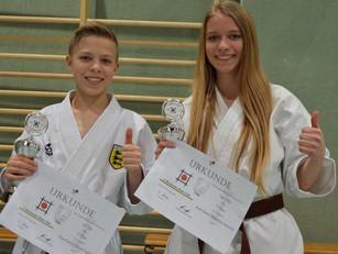 2x Gold für die Karateschule Bad Säckingen
