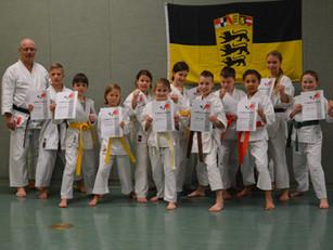 Prüfungen der Karateschule Bad Säckingen