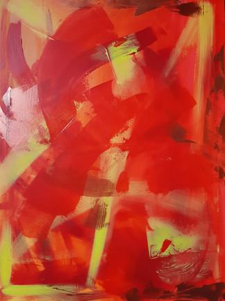 Piece of redness 60x80cm Acrylic on canvas 225€ (sis.alv) Tiina Miinalainen 2018