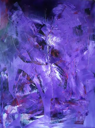 Purple soul, 60x80cm Acrylic on canvas, 295€ (sis.alv), Tiina Miinalainen 2018