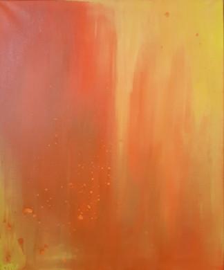 Fire of life, 54x65cm Acrylic on canvas, 220€ (sis.alv), Tiina Miinalainen 2018