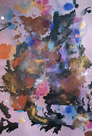 Edla 2019 Acrylic on paper 35x50cm 120€ (sis.alv) Tiina Miinalainen