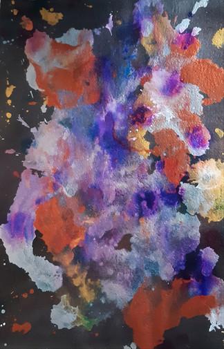 Nabu 2019 Acrylic on paper 35x50cm 120€ (sis.alv) Tiina Miinalainen