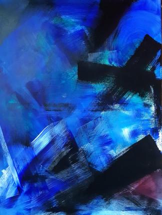 Blue breath 60x80cm Acrylic on canvas 245€ (sis.alv) Tiina Miinalainen 2018