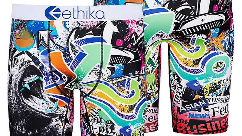 Zhcth Ethika Breathable Male Spandex Animal/Cartoon  Mens Underwear