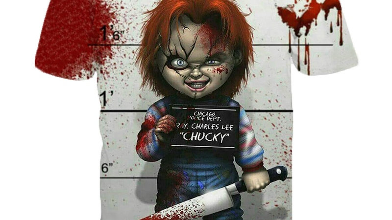 Horror Movie Chucky T Shirt 3D Print