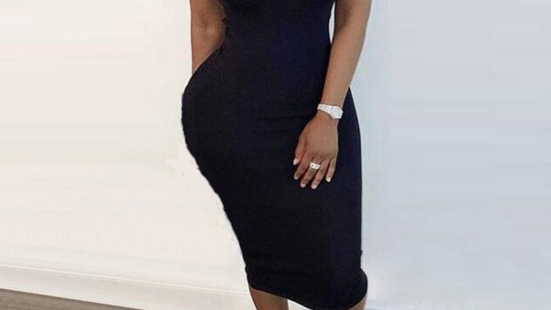 Women Fashion Plus Size Black-Girl-Magic Print Sleeveless Maxi Dresses