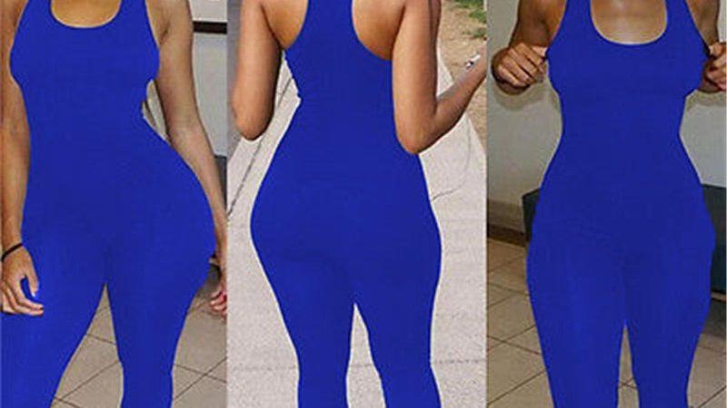 Woman Jumpsuit Sleeveless Casual Sleeveless Romper  Bodysuit