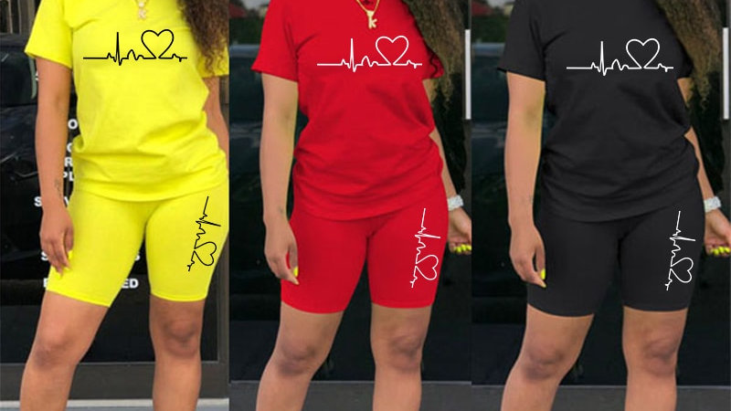 T-Shirts and Shorts Sets Solid Color