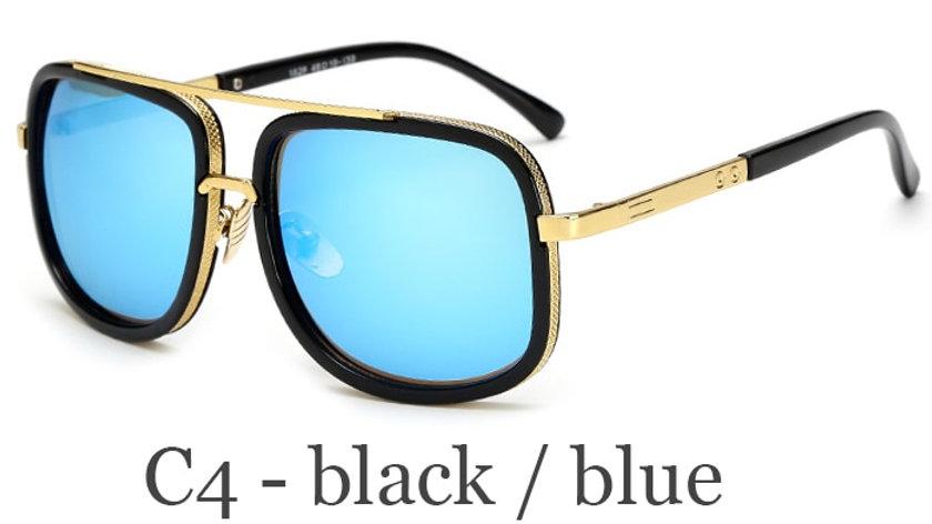 Sun Glasses Square Retro Oculos De Sol Male UV400 Mirror Eyewear
