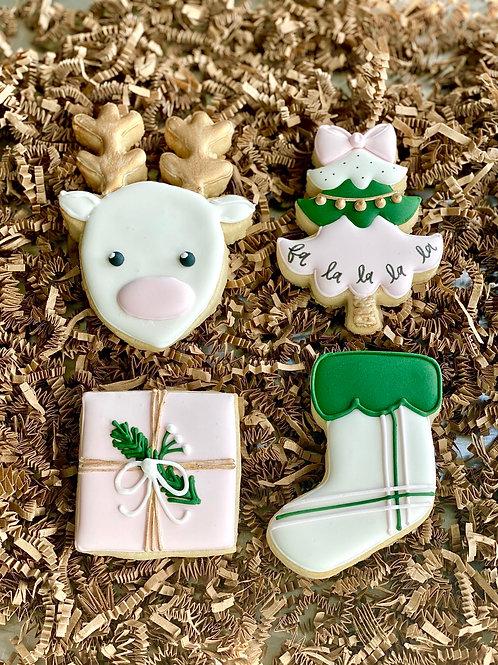 Trendy Christmas Cookie Set