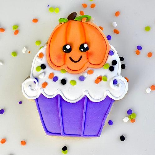 Pumpkin Cupcake Cookie