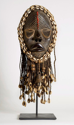 Masks With Cowrie Shells