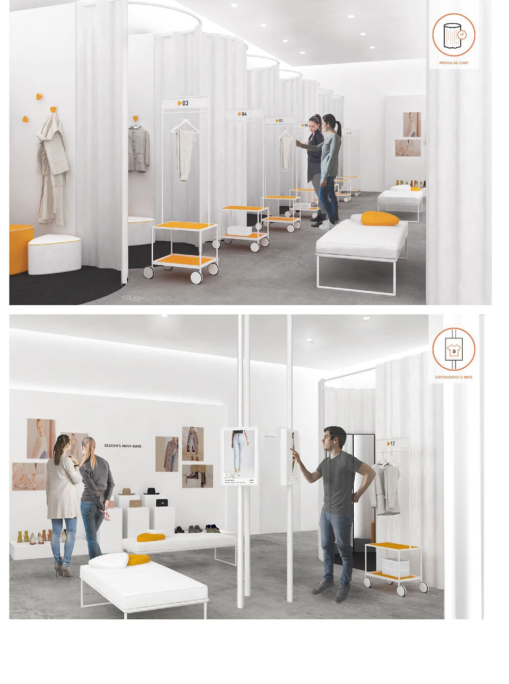 new fitting room project by Ilaria Marelli